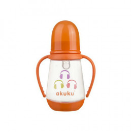 Бутылочка с ручками 125 мл. Akuku A0008 orange