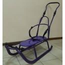 Санки Anmar Active (рег.ручка, без капюшона) фиолетовый, вертикальные полозья