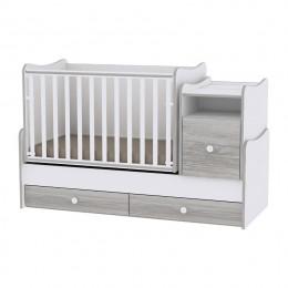 Кроватка-трансформер Bertoni TREND PLUS NEW (white/artwood)