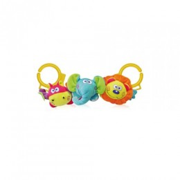 Игрушка для коляски Bertoni/Lorelli Lion/Hippo/Elephant