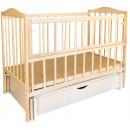 Кроватка Sofia Eco S-5 (120*60, 3 ур-ня, откидн. бок., маятник, ящик, без лака)