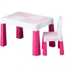 Комплект Tega MULTIFUN стол+1 стул MF-001 pink