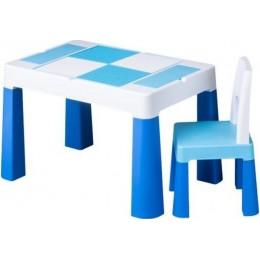 Комплект Tega MULTIFUN стол+1 стул MF-001 blue