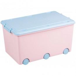 Ящик для игрушек Tega Rabbits KR-010 (pink-blue)