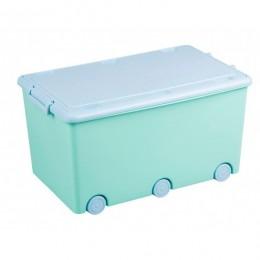 Ящик для игрушек Tega Rabbits KR-010 (turquoise-blue)