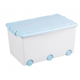 Ящик для игрушек Tega Rabbits KR-010 (white-blue)