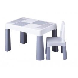 Комплект Tega MULTIFUN стол+1 стул MF-001 grey